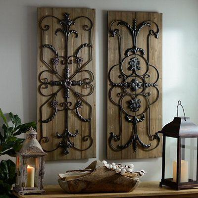 Adelaide Natural Wooden Plaque Set Of 2 Kirklands Wooden Plaqueswall Plaqueslodge Decoraccent