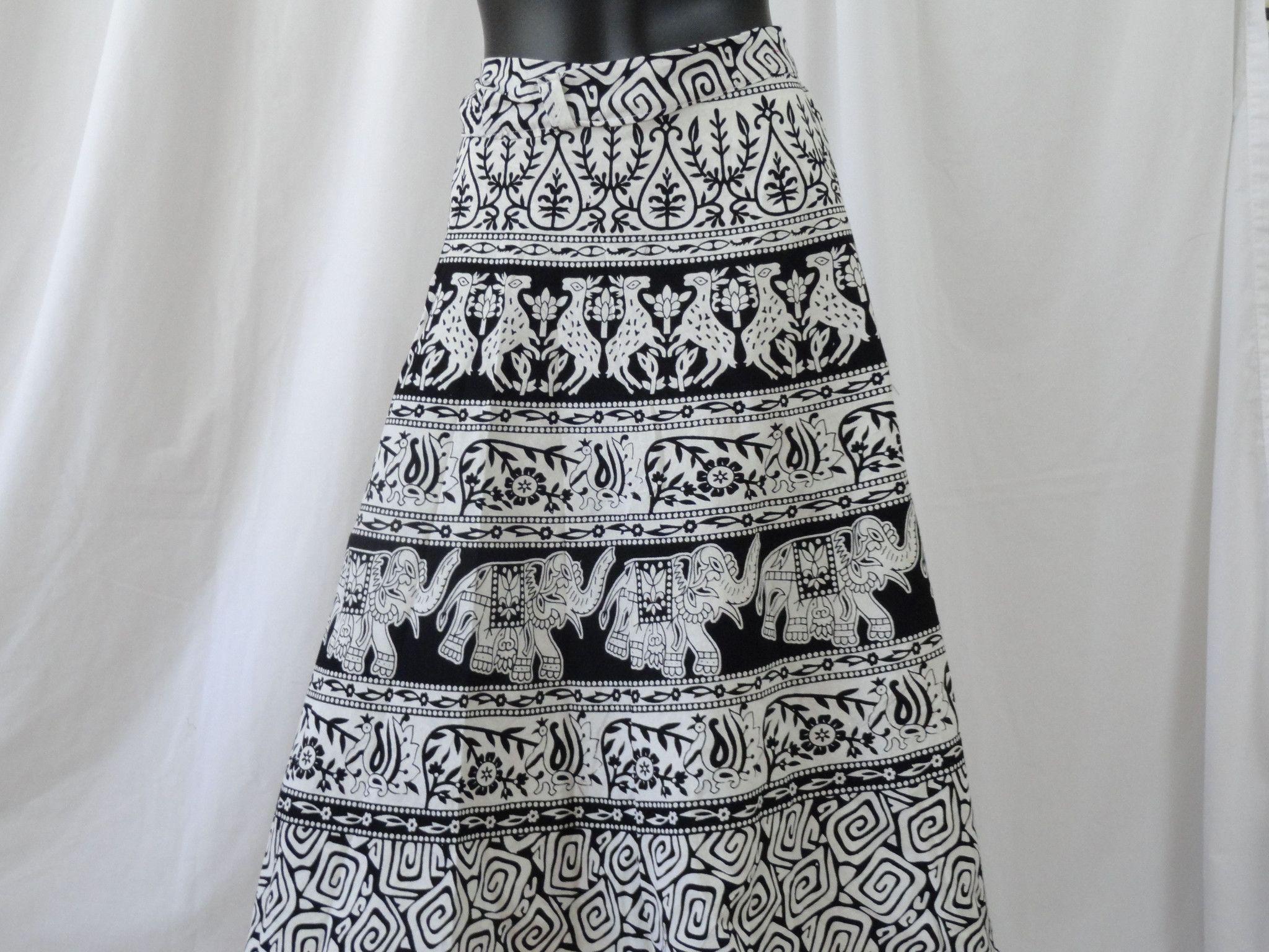 Long Black And White Skirt