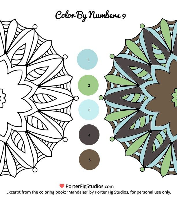 Free Mandala Coloring Page Color By Numbers 9 Mandala Coloring Pages Coloring Pages Mandala Coloring