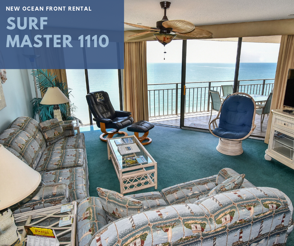 Surf Master By The Sea 1110 Is A Two Bedroom Two Bath Oceanfront Condo Located 1 2 Miles North Of Garden City Pier T Oceanfront Condo Garden City Two Bedroom
