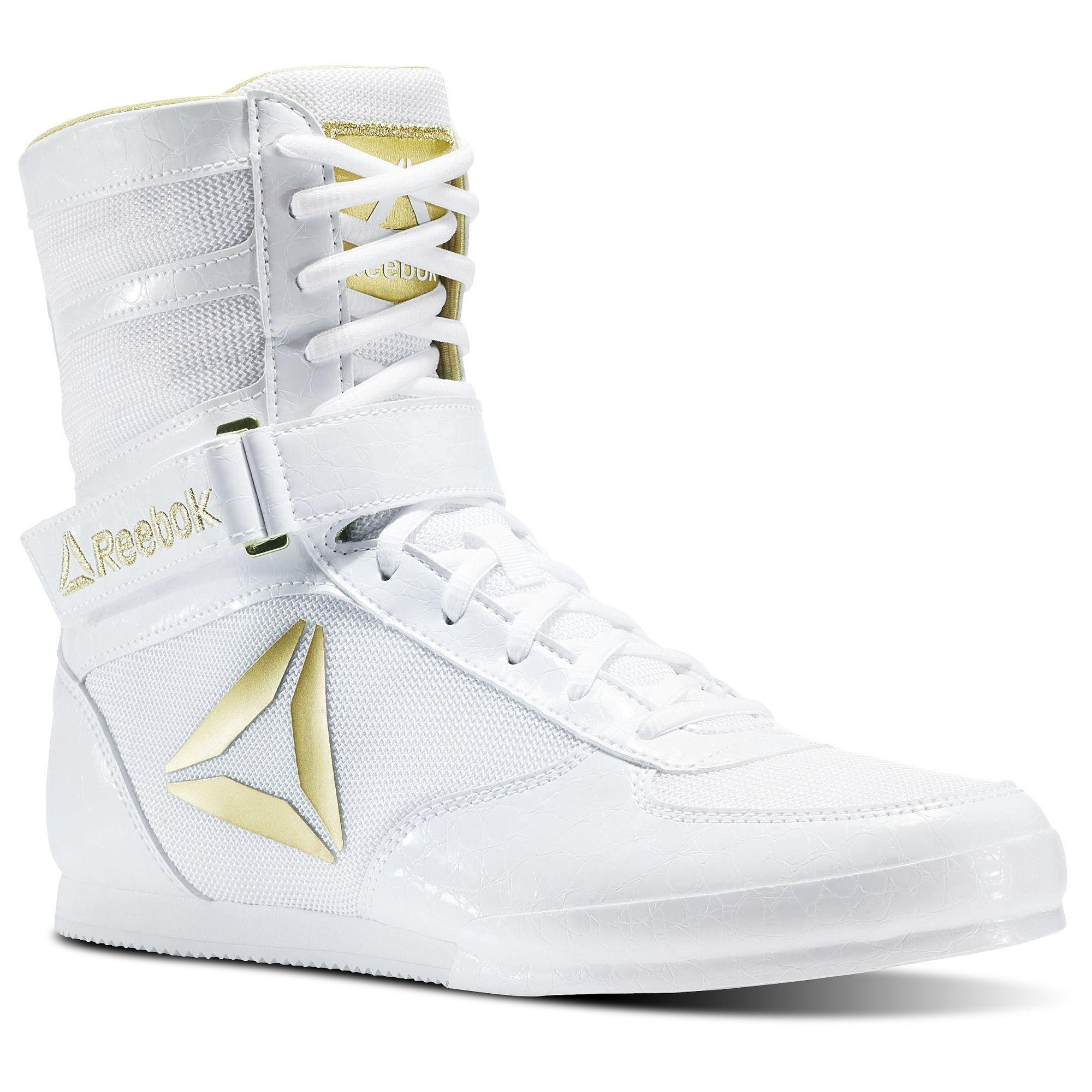 Obediencia helicóptero eficientemente  Reebok Boxing Boot - Buck White / Gold 7.5 | Zapatos jordan para chicas, Boxeo  mujer, Guantes de boxeo