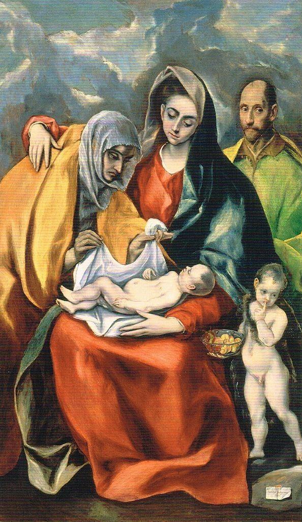 Título La Sagrada Familia Es Una Obra Realizada Entre 1586 Y 1588 Durante Su Segundo Período Toledano Esta Pintur Museo De Santa Cruz Arte Católico Grecas