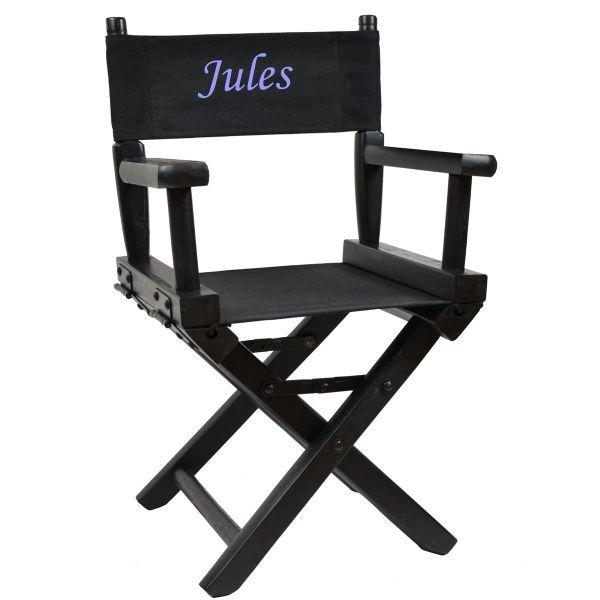 d couvrez ce fauteuil metteur en sc ne enfant personnalis bois noir sur. Black Bedroom Furniture Sets. Home Design Ideas