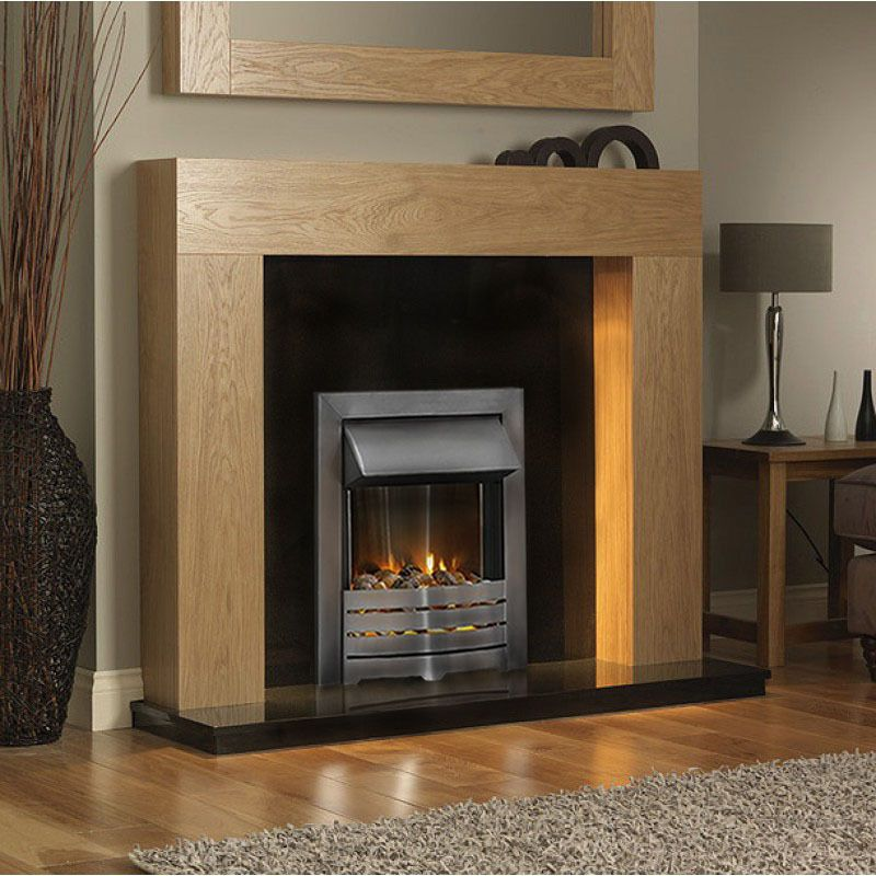 electric oak wood fireplace surround suite silver inset black gas fireplace glass black soot from gas fireplace