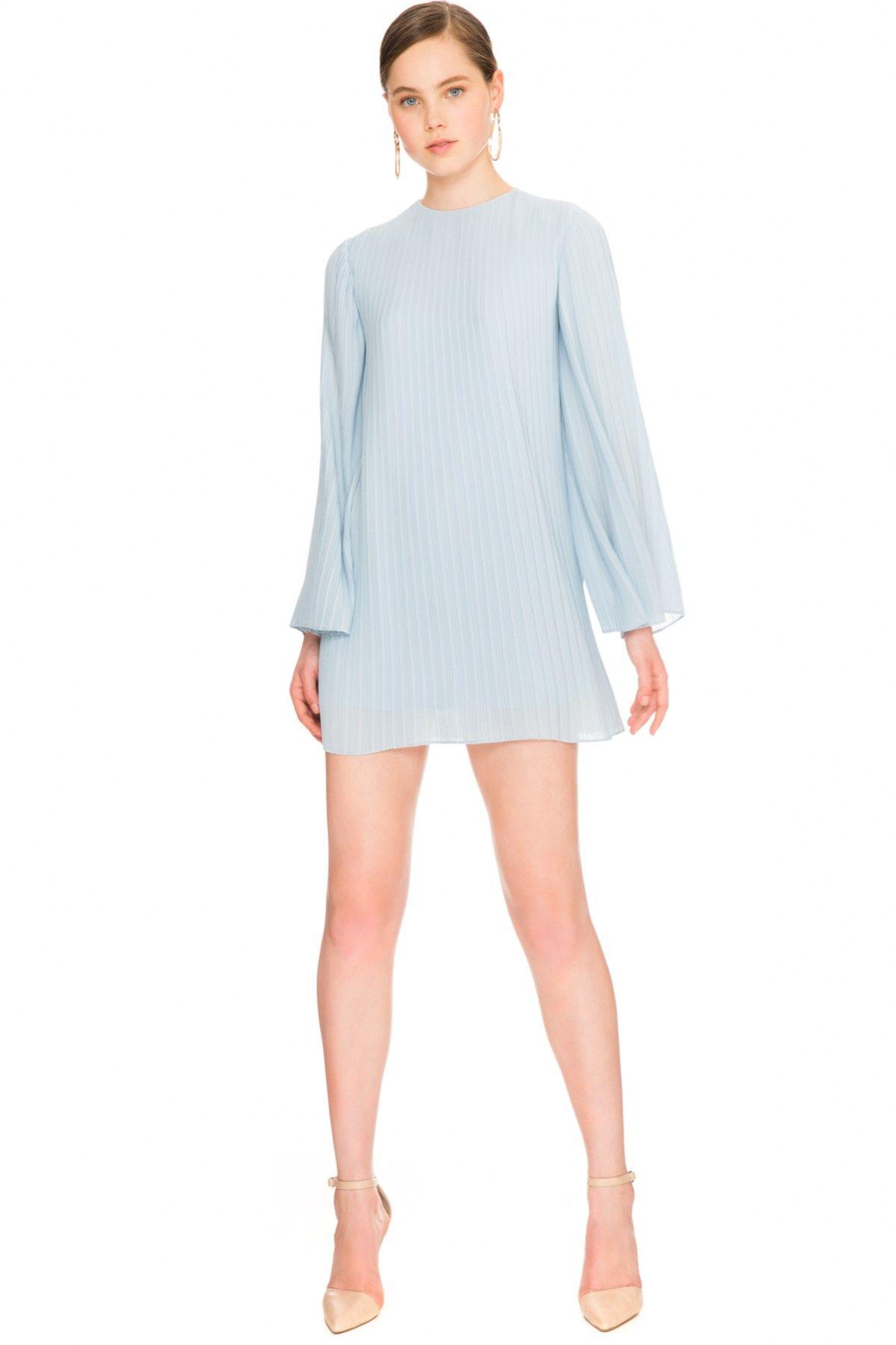 84d6da21d60d KEEPSAKE LISTEN OUT LONG SLEEVE DRESS pastel blue | COLLECTIONS ...