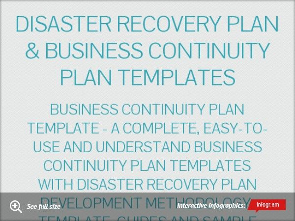 Infographic Disaster Recovery Plan  Disaster Recovery Plan