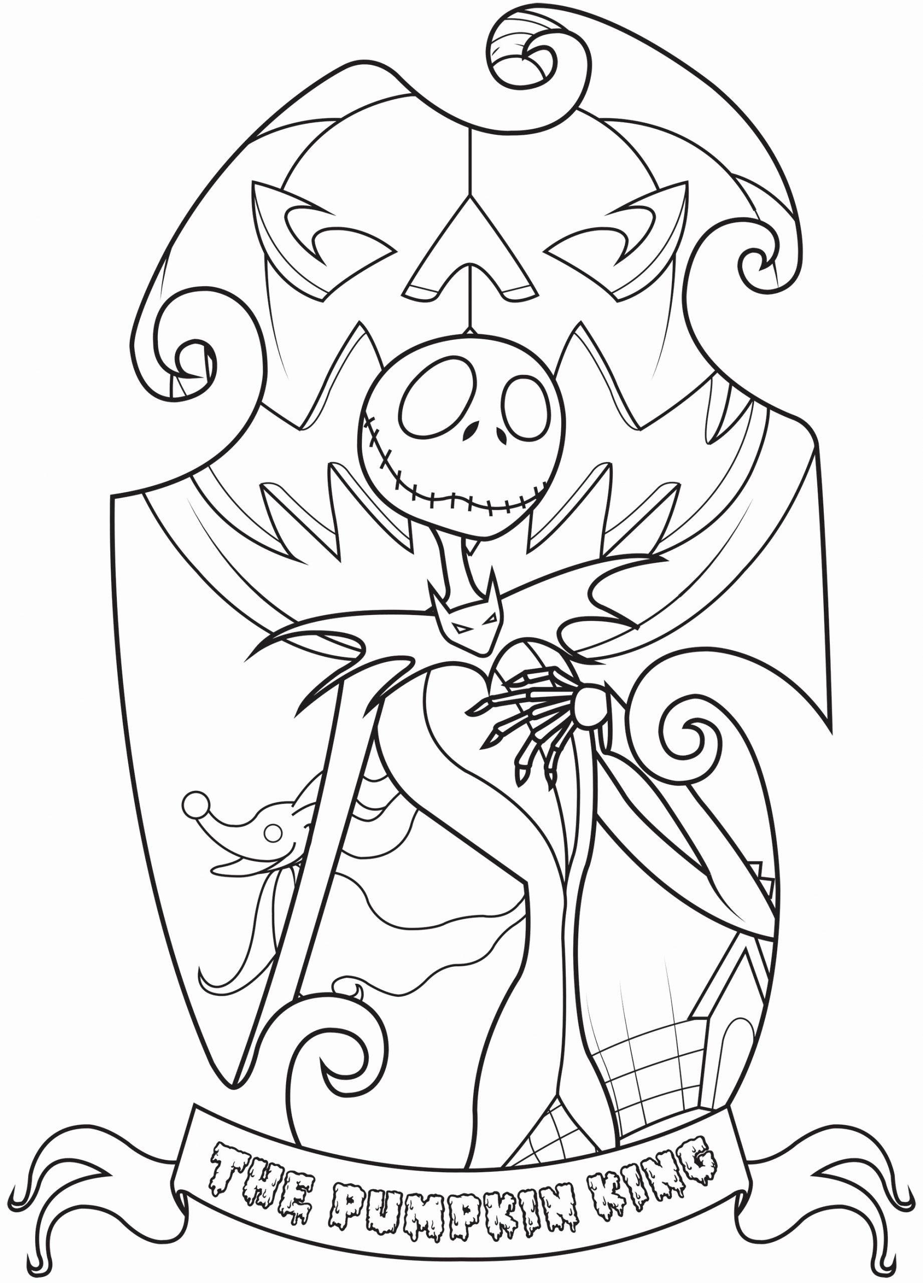 The Nightmare Before Christmas Coloring Pages Fresh Jack Skellington The Nightmare Before In 2020 Halloween Coloring Pages Christmas Coloring Pages Halloween Coloring