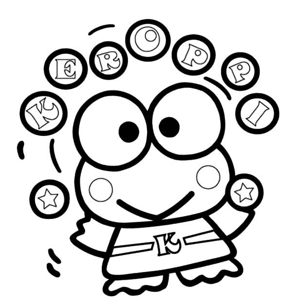 Keroppi Ball Juggling Coloring Pages | Geek/Nerd/Fandom: Anime ...