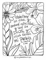 Garden Living + a 2 Corinthians 6:16 Bible Coloring Page