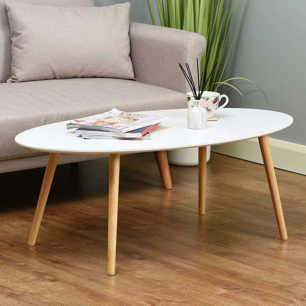 Retro Scandinavian Style Oval Coffee Table White With Wood Legs 110 X 60 40 Ebay Coffee Table White Coffee Table Living Room Wood Coffee Table Living Room [ 1000 x 1000 Pixel ]