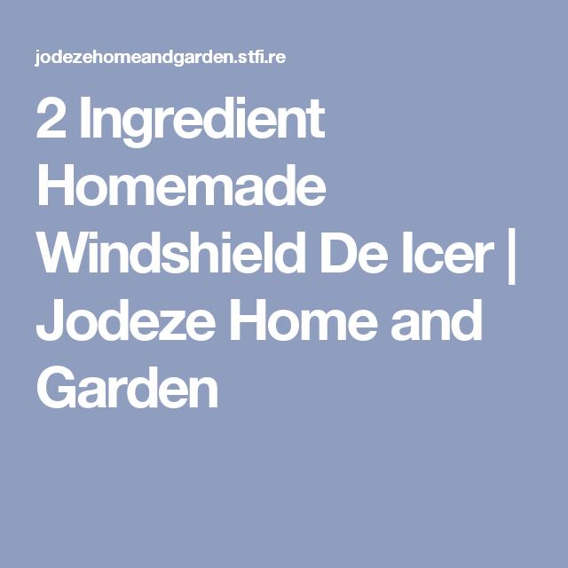 2 Ingredient Homemade Windshield De Icer | Jodeze Home and Garden