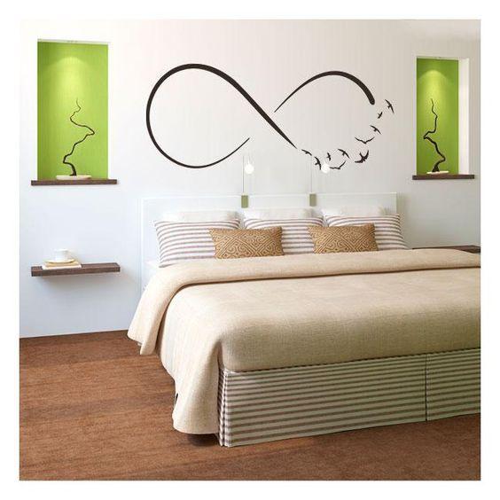 Vinilos s mbolo infinito aves escritorios decoraci n - Decoracion de paredes de dormitorios ...