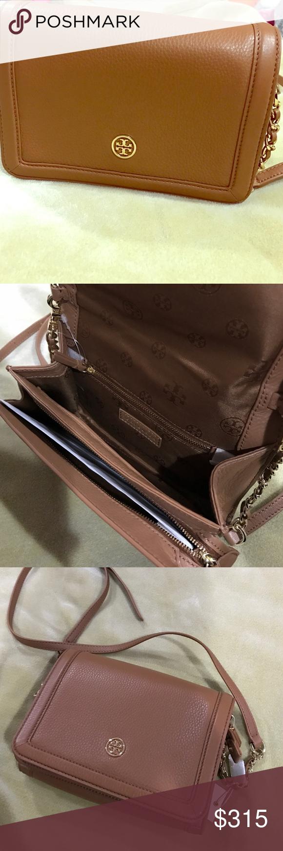 06dd4d0855d Tory burch landon combo cross body bag Flap with nap closure. 1 zipper  pocket under
