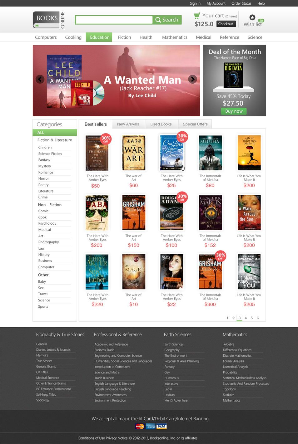 Free bookstore website template psd. #free #psd #webdesign #layout ...