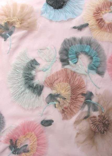 Flowers Fabric Manipulation Inspiration 36 Ideas #fabricmanipulation