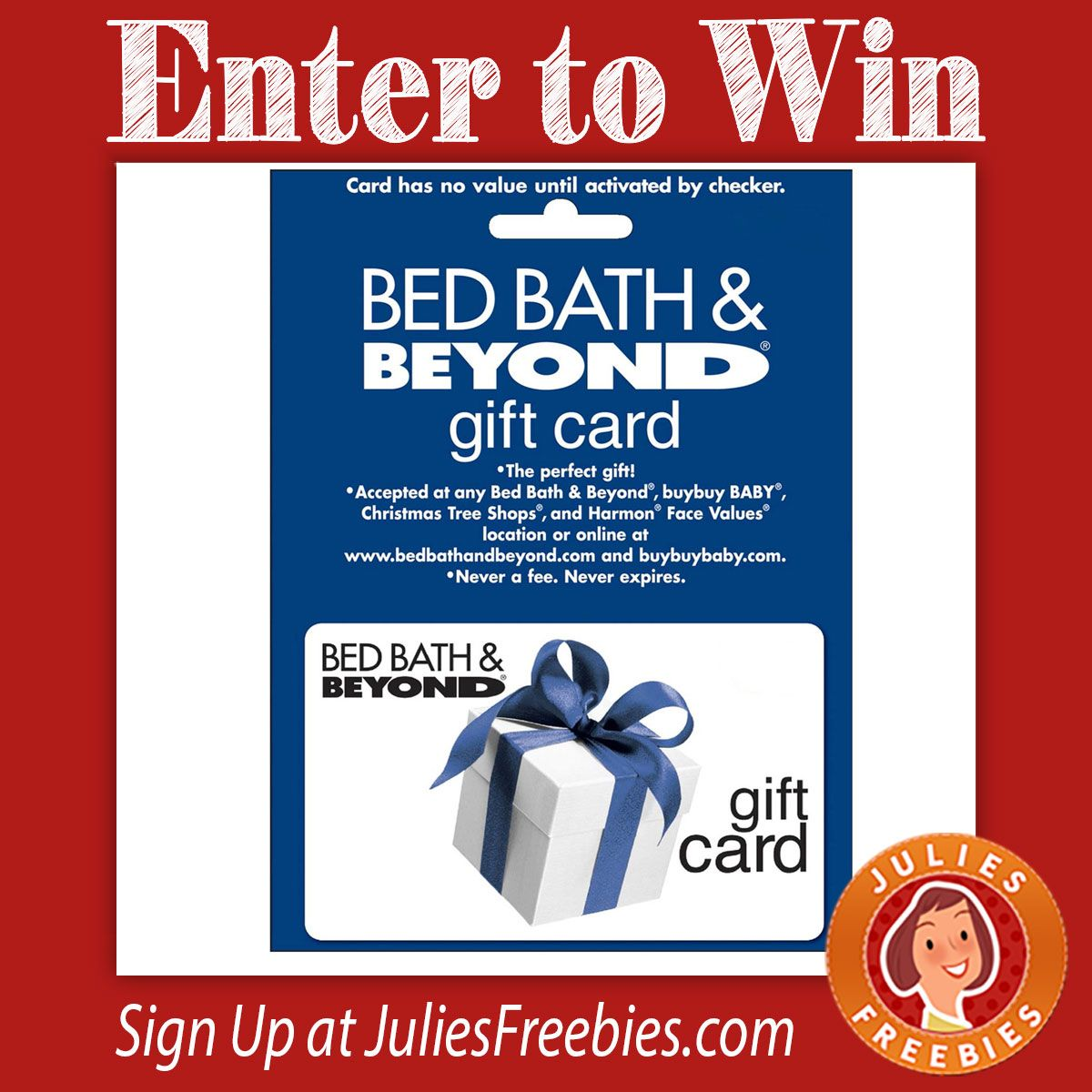 Win a 200 Bed Bath and Beyond Gift Card Gifts, Cards