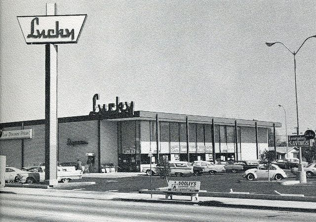 Mid 1960 S Lucky Supermarket Long Beach Ca