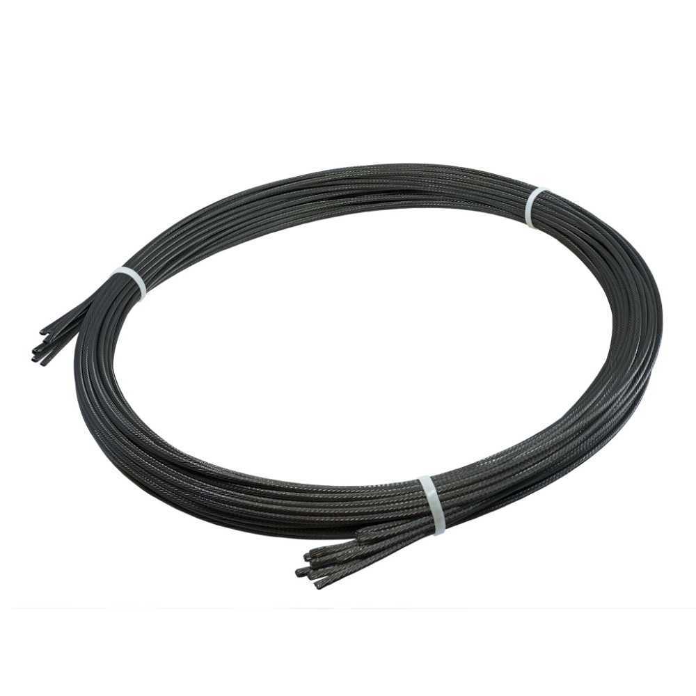 Black Stainless Cable Bundles For Cable Railing Horizontal Or Vertical Keuka Cable In 2020 Black Cables Black Oxide Cable Railing