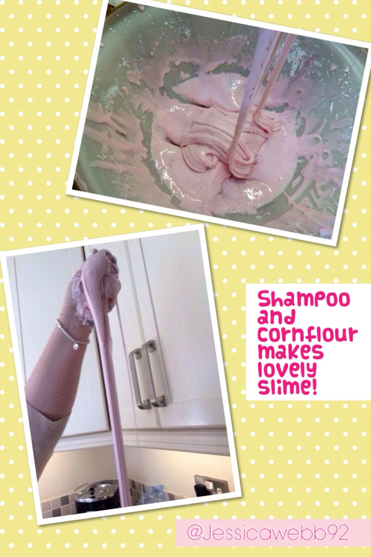 Shampoo And Cornflour Mixed Together With A Little Water