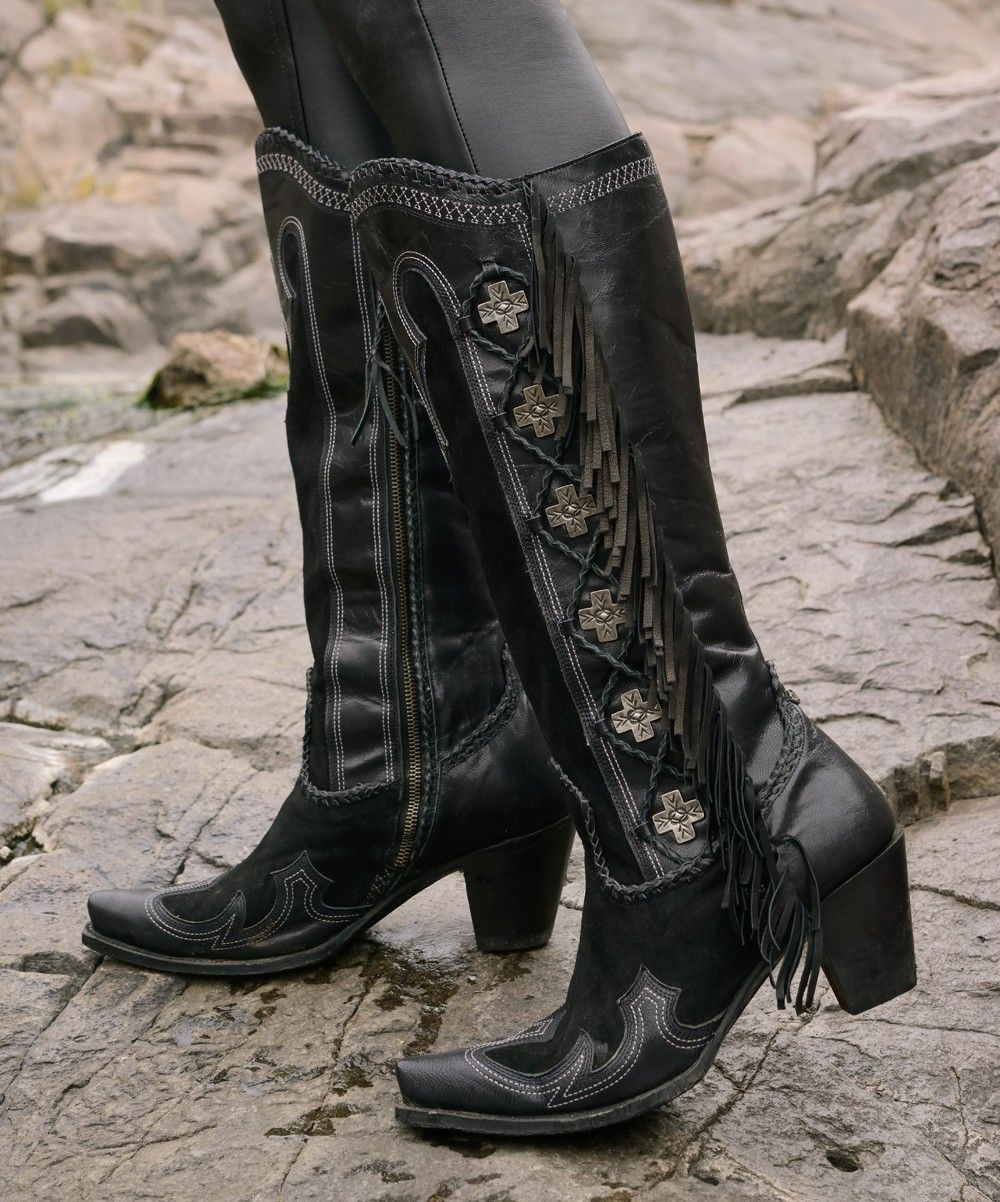 913a9544439ae Domingo Fringed Boot -Double D Ranch