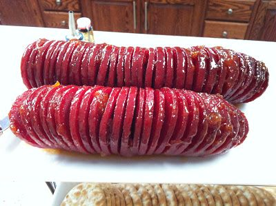 Photo of Glazed Summer Sausage… Easy appetizer!!