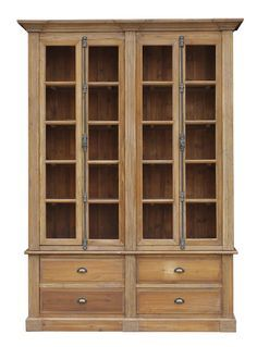 Image Result For Rustic Bookcase With Gl Doors