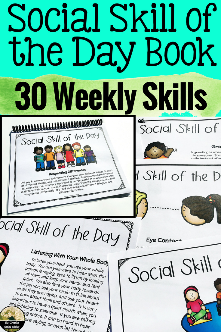 Social Skill Lesson Social Skill Of The Day Book Resources For