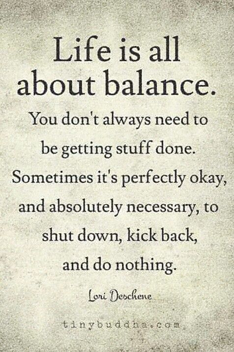 Life All About Balance Lori Deschene Things I Would Love