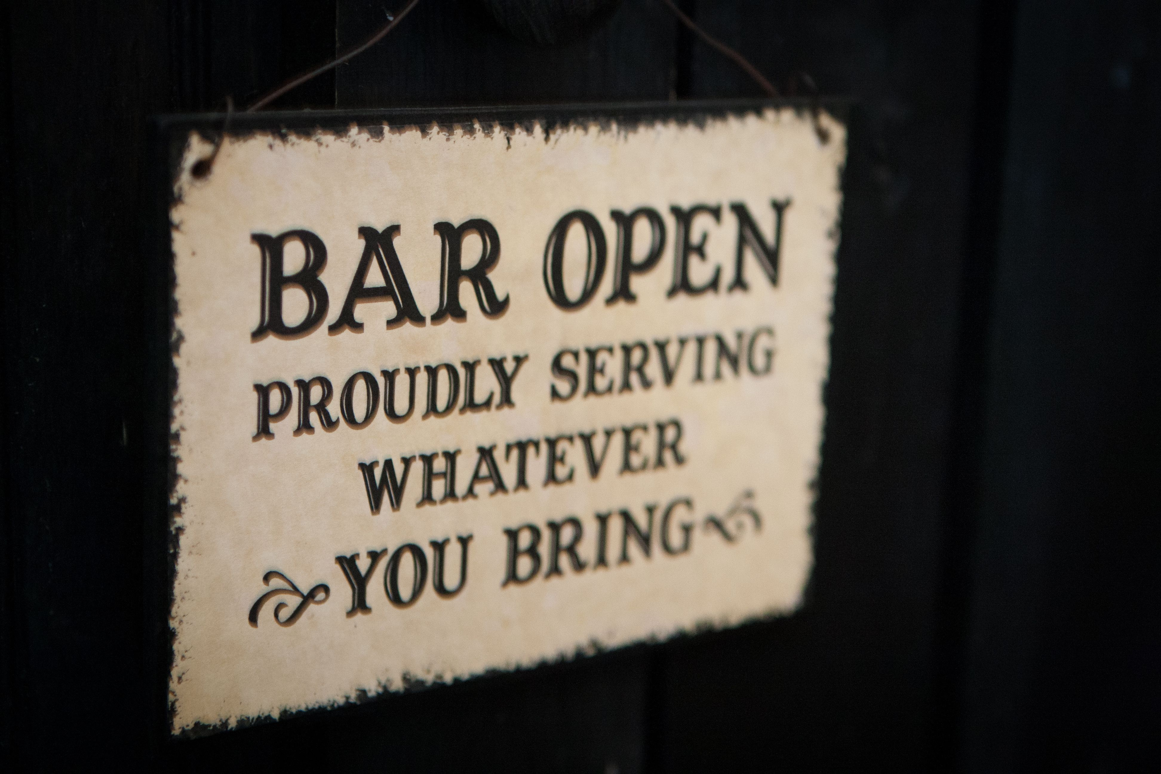 Cute Byob Sign For Your Backyard Wedding Bar Signs Pool Signs Backyard Bar