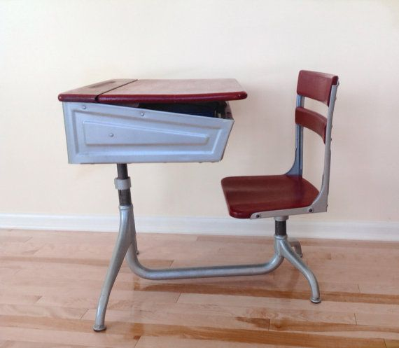 Vintage 1940s School Desk on Etsy, $150.00 - School House Desk Made By American Seating Company. Early 1900s