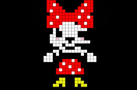 Cute Minnie Mouse Pixel Art Pixel Art Pixel Art Design Art