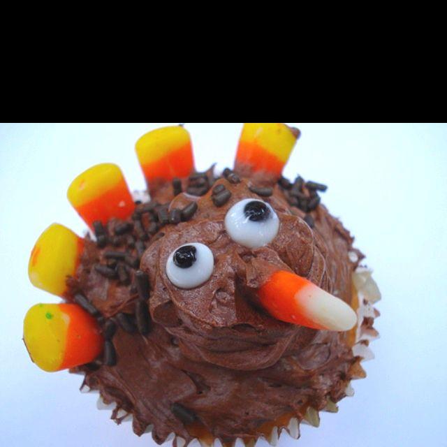 turkey cupcake!