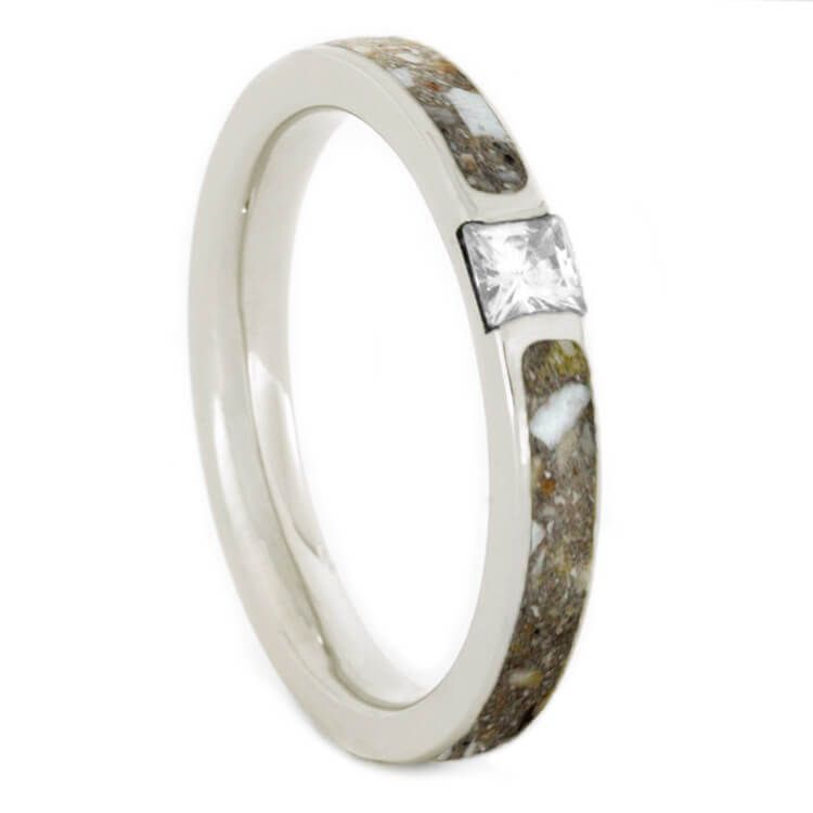 This Simple Beautiful Cremation Ring Is A Celebration Of The Love And Memoriesyou Associa Palladium Engagement Rings Moissanite Wedding Bands Engagement Rings