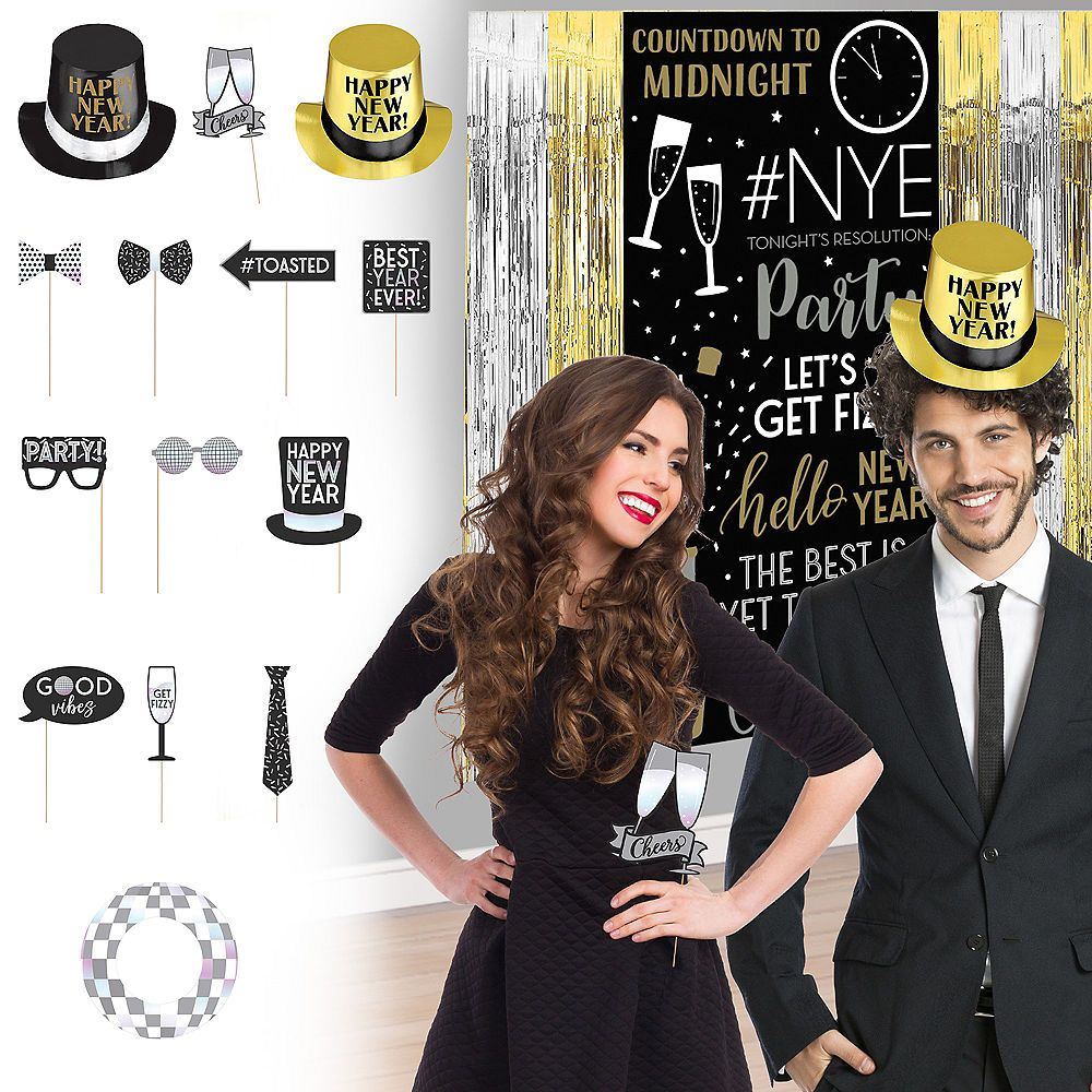 Disco New Year's Eve Photo Booth Kit | Photo booth kit ...