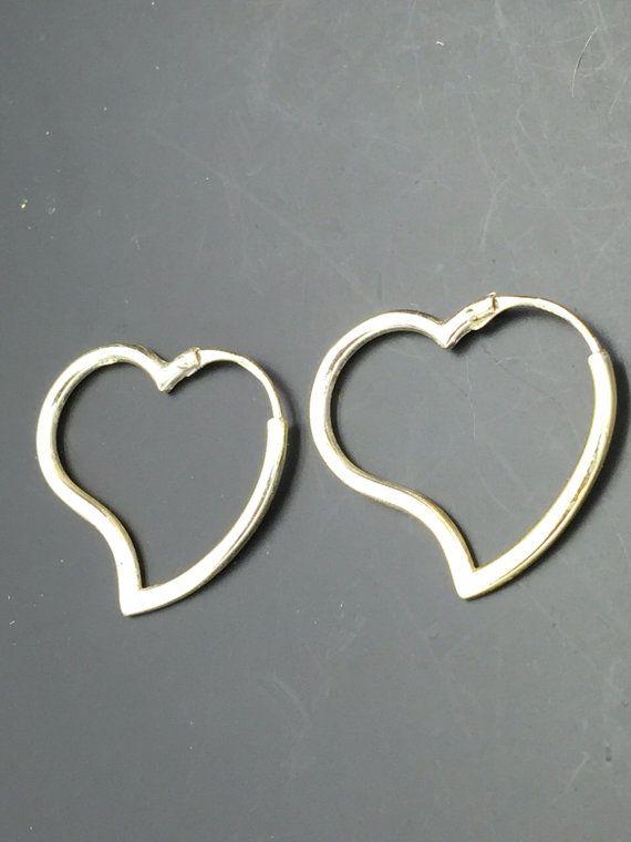Designer Signed Vintage Sterling Silver Heart Shaped by REMIjewels