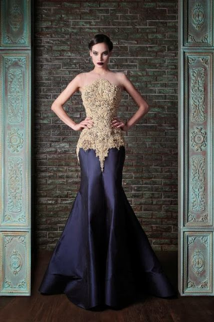 Dramatic Evening Dress