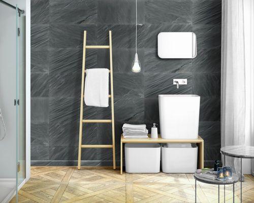 wasserfeste Wandpaneele - Wandverkleidung in Schieferoptik - ideal - badezimmer boden