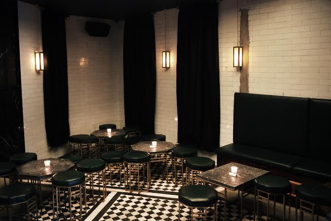 Bermondsey Arts Club - A disused public toilet on Tower Bridge Road has had a makeover. Classic cocktails with a vintage feel will be served on bar tops made of marble previously used as toilet cubicle dividers more