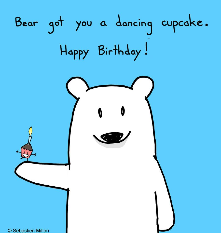 Happy Birthday Dancing Cupcake By Sebreg.deviantart.com On