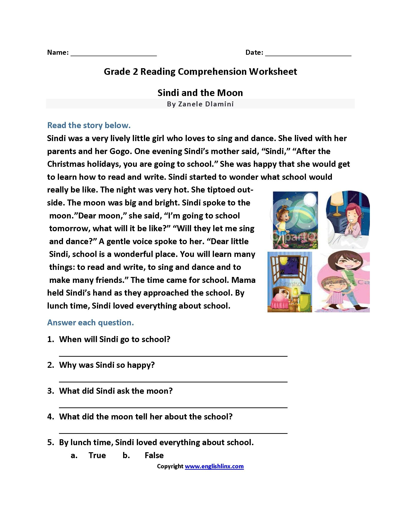 7 Functional 2 Grade Reading Worksheets Di