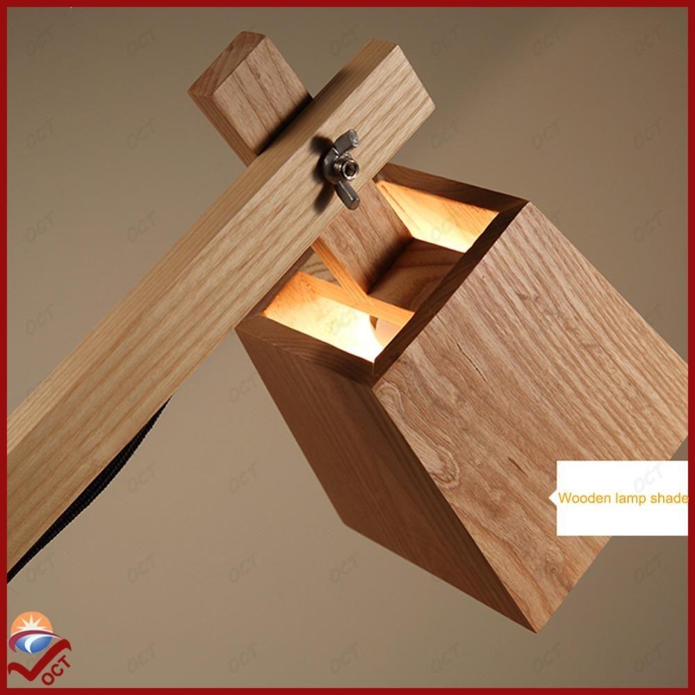 110V 220V 240V Modern Ikea Study Dinning Wooden Table Lamp Lamparas De Mesa Led Edision Bulb Desk Lamp Reading Light Luminaria
