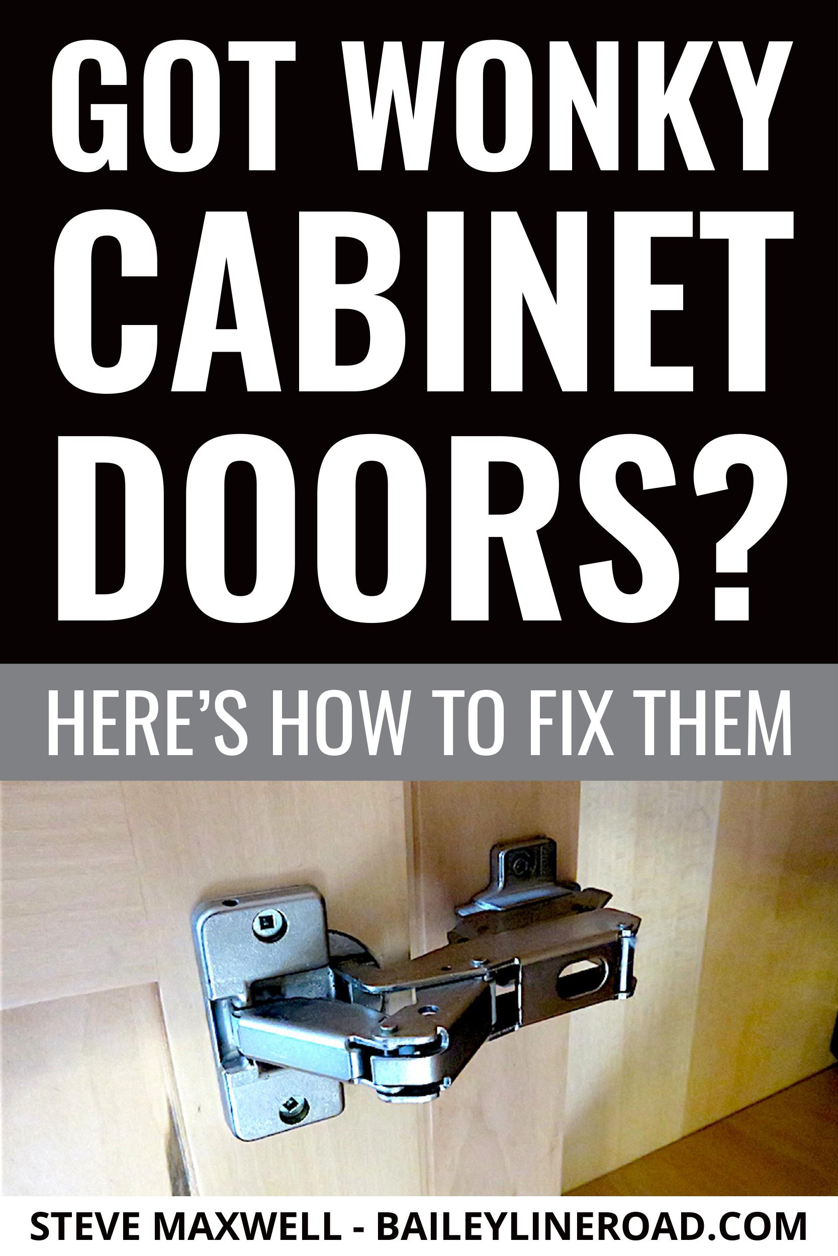 Got Wonky Cabinet Doors Here S How To Fix Them Baileylineroad In 2020 Kitchen Cabinets Door Hinges Bathroom Cabinets Diy Cabinet Doors