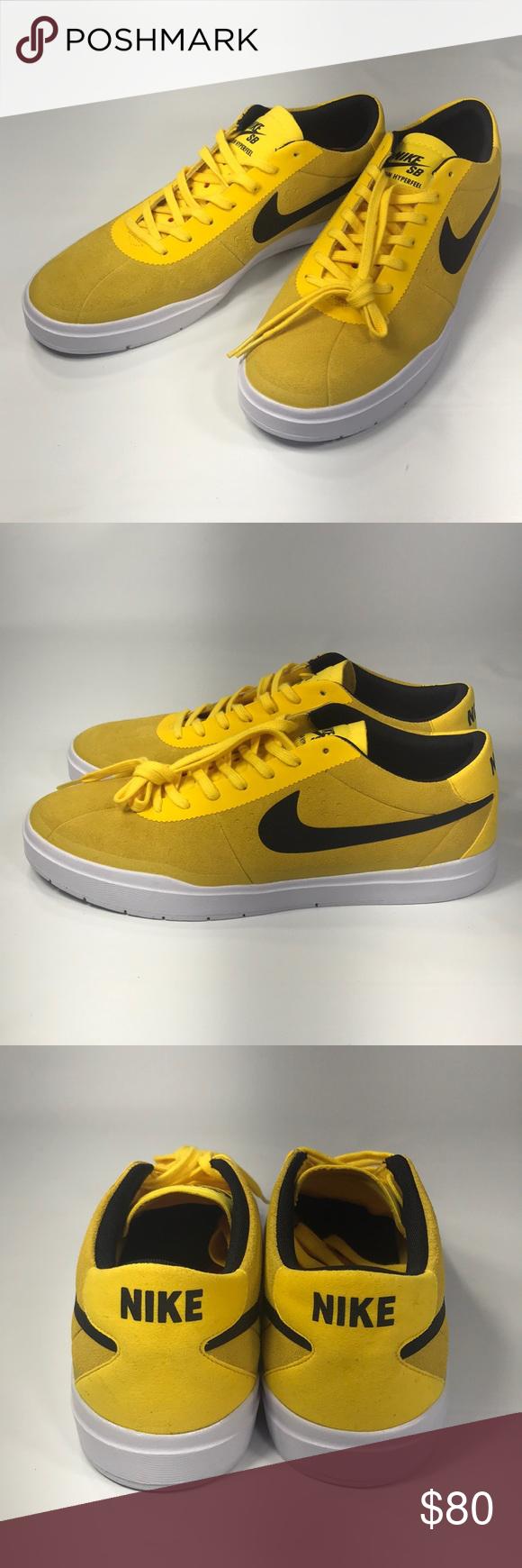 Nike SB Bruin Hyperfeel Yellow Suede Sneaker