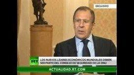 Entrevista exclusiva a Lavrov