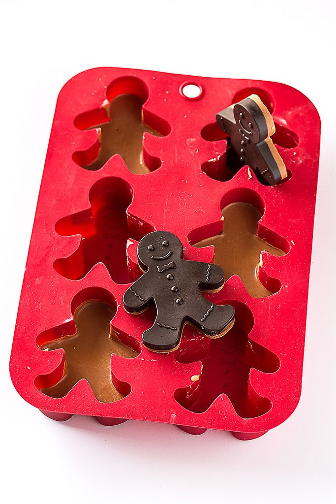 chocolate peanut butter gingerbread men - bake.love.give.
