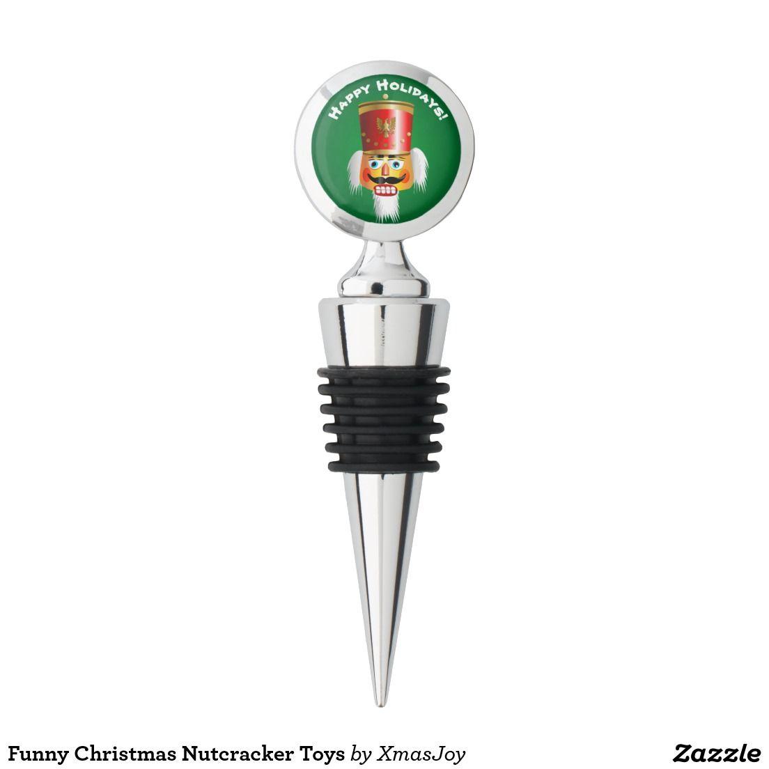 Funny Christmas Nutcracker Toys Wine Stopper | Christmas Nutcrackers ...