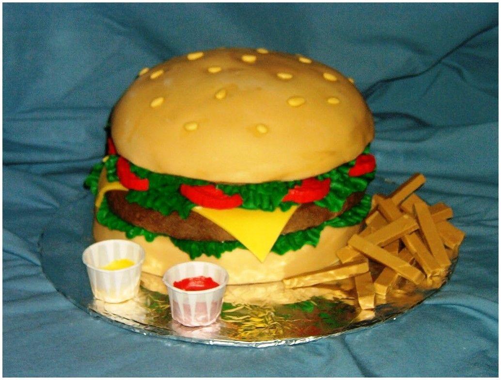 Hamburger Cakes Designs Ideas, Hamburger Birthday Cake | Cake Ideas ...