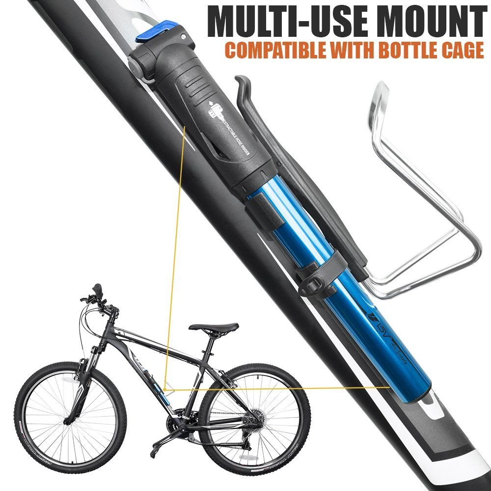 Bv Bike Pump With Extendable Extractable Hose Mini Blue Be Sure To Check Out This Awesome Product It Is Amazon Affiliat Bike Pump Pumps Cycling Accessories