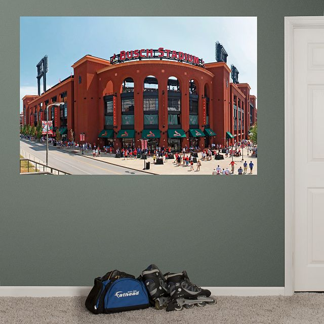 Outside Busch Stadium Mural Fathead Wall Graphic