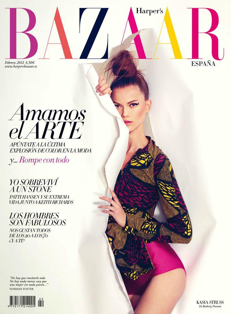 Harper's Bazaar Spain February 2012 Cover   Kasia Struss by Nico